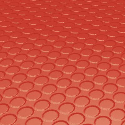 Roppe Rubber Tile 900 - Vantage Raised Circular Design (996) Tangerine Rubber Flooring
