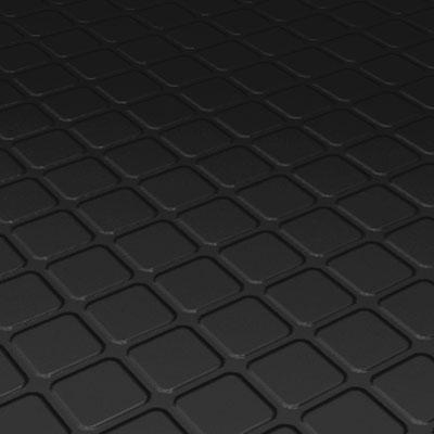 Roppe Rubber Tile 900 - Raised Square Design (994) Black Rubber Flooring