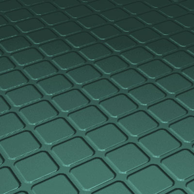 Roppe Rubber Tile 900 - Raised Square Design (994) Forest Green Rubber Flooring