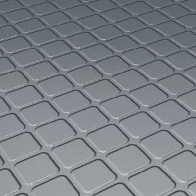 Roppe Rubber Design Treads - Raised Square Design Dark Gray Rubber Flooring