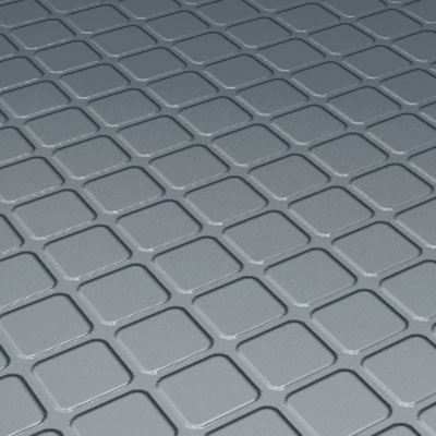 Roppe Rubber Design Treads - Raised Square Design Steel Blue Rubber Flooring