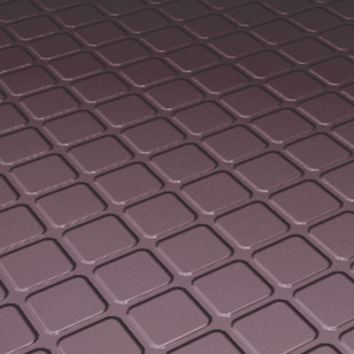 Roppe Rubber Design Treads - Raised Square Design Burgundy Rubber Flooring