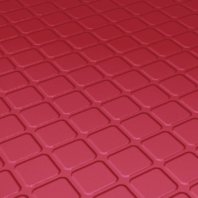 Roppe Rubber Design Treads - Raised Square Design Red Rubber Flooring