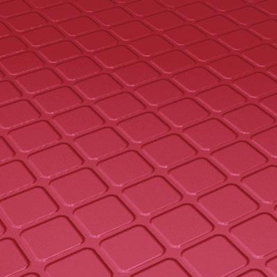 Roppe Rubber Design Treads - Raised Square Design Red Rubber Flooring