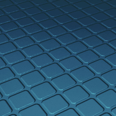Roppe Rubber Design Treads - Raised Square Design Blue Rubber Flooring