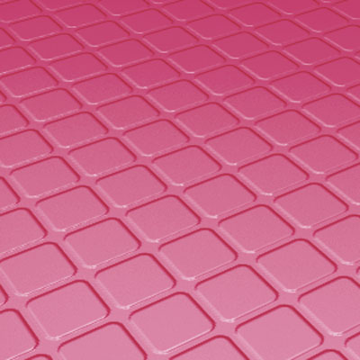 Roppe Rubber Design Treads - Raised Square Design Azalea Rubber Flooring