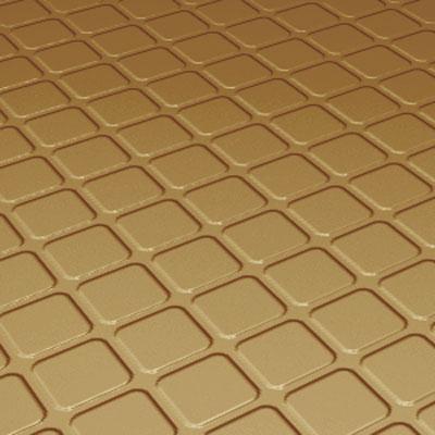Roppe Rubber Design Treads - Raised Square Design Brass Rubber Flooring