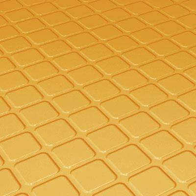 Roppe Rubber Design Treads - Raised Square Design Golden Rubber Flooring