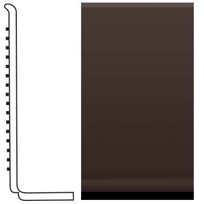 Roppe Pinnacle Rubber Sanitary Base 4 Brown Rubber Flooring