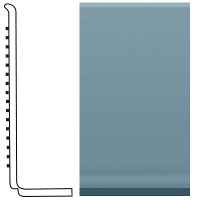 Roppe Pinnacle Rubber Sanitary Base 4 Colonial Blue Rubber Flooring
