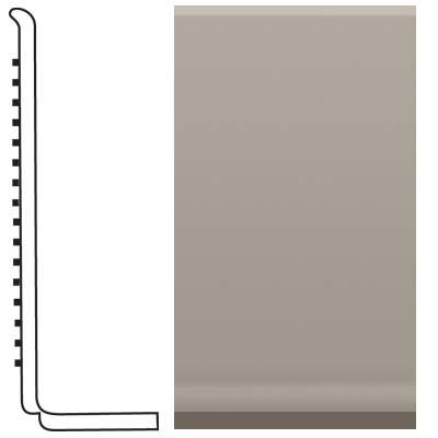 Roppe Pinnacle Rubber Sanitary Base 4 Pewter Rubber Flooring