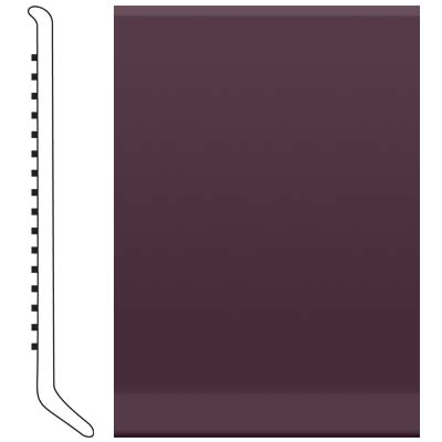 Roppe 700 Series Rubber Toe Base 2-1/2 Burgundy Rubber Flooring