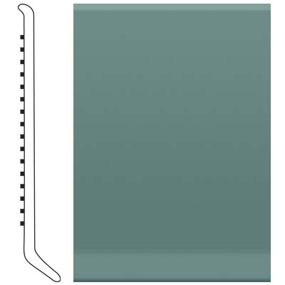 Roppe 700 Series Rubber Toe Base 2-1/2 Hunter Green Rubber Flooring