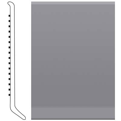 Roppe 700 Series Rubber Toe Base 6 Steel Gray Rubber Flooring