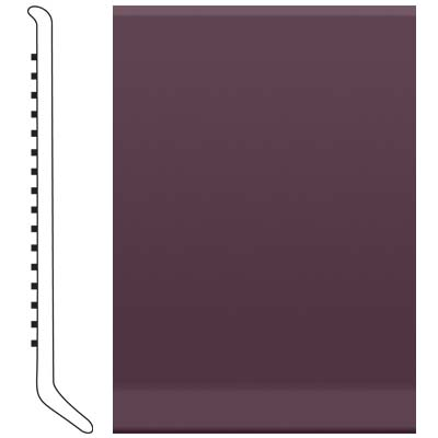Roppe Pinnacle Rubber Cove Base 6 Burgundy Rubber Flooring