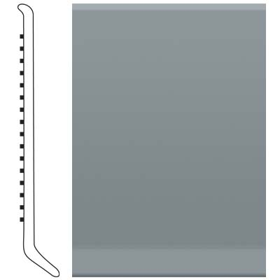 Roppe Pinnacle Rubber Cove Base 3-1/2 Dark Gray Rubber Flooring