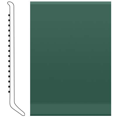 Roppe Pinnacle Rubber Cove Base 3-1/2 Forest Green Rubber Flooring