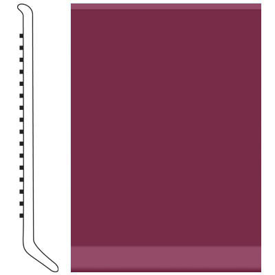 Roppe Pinnacle Rubber Cove Base 6 Plum Rubber Flooring