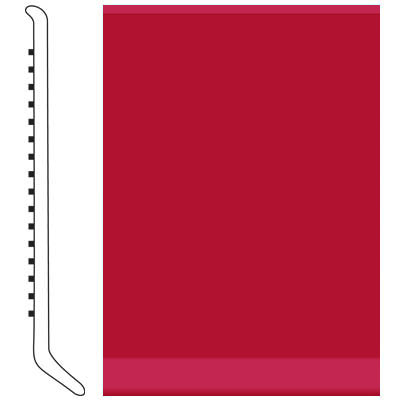 Roppe Pinnacle Rubber Cove Base 6 Red Rubber Flooring