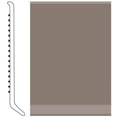 Roppe Pinnacle Rubber Cove Base 3-1/2 Taupe Rubber Flooring