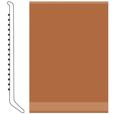Roppe Pinnacle Rubber Cove Base 5-1/2 Terracotta Rubber Flooring