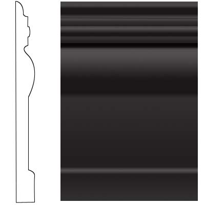 Roppe Visuelle Wall Base 4 1/2 Black Rubber Flooring