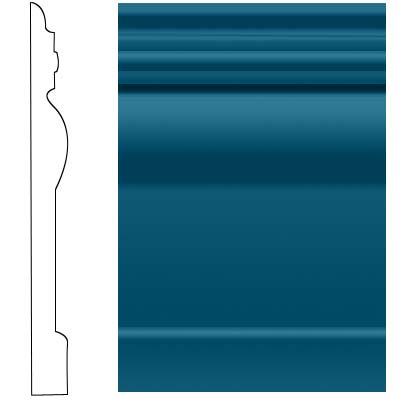 Roppe Visuelle Wall Base 4 1/2 Blue Rubber Flooring
