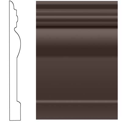Roppe Visuelle Wall Base 4 1/2 Brown Rubber Flooring
