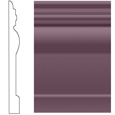 Roppe Visuelle Wall Base 4 1/2 Burgundy Rubber Flooring