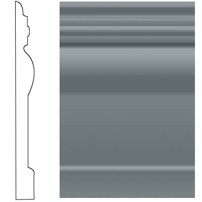 Roppe Visuelle Wall Base 7 3/4 Dark Gray Rubber Flooring