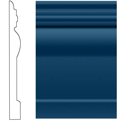Roppe Visuelle Wall Base 4 1/2 Deep Navy Rubber Flooring