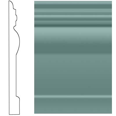 Roppe Visuelle Wall Base 4 1/2 Hunter Green Rubber Flooring