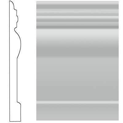 Roppe Visuelle Wall Base 4 1/2 Light Gray Rubber Flooring