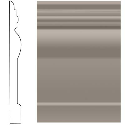 Roppe Visuelle Wall Base 4 1/2 Pewter Rubber Flooring