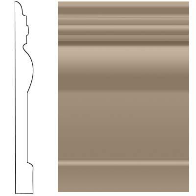 Roppe Visuelle Wall Base 7 3/4 Sandstone Rubber Flooring