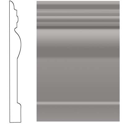 Roppe Visuelle Wall Base 7 3/4 Slate Rubber Flooring