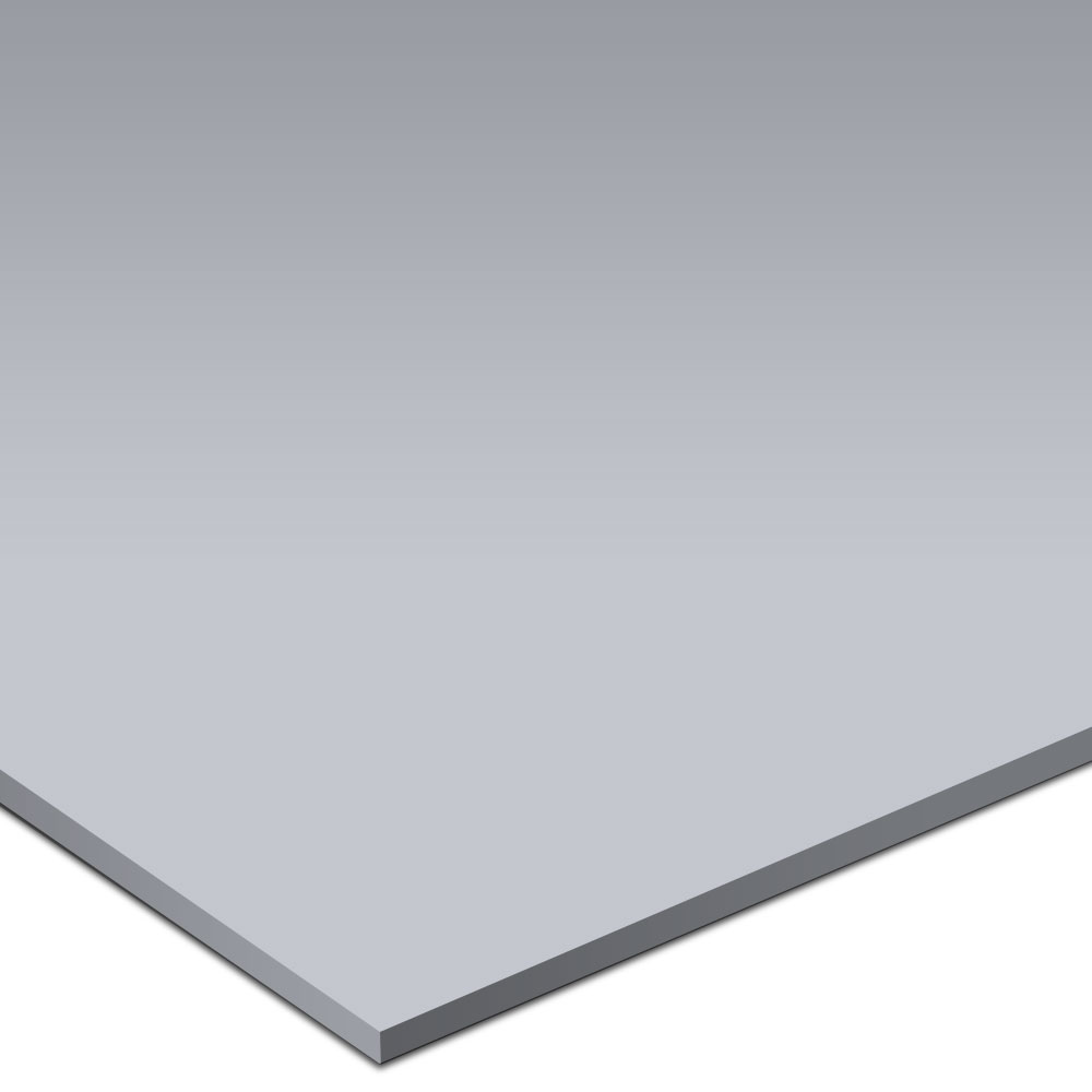 Burke Solid Color Rouleau Round 20 x 20 Vulcanized Rubber Sky Gray Rubber Flooring