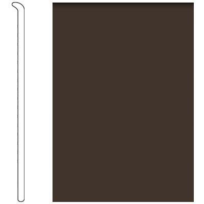Forbo 4 Inch Straight Toe Base Espresso Vinyl Flooring