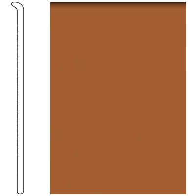 Forbo 4 Inch Straight Toe Base Rust Vinyl Flooring