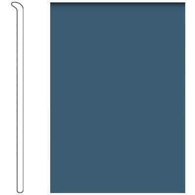 Forbo 4 Inch Straight Toe Base Steel Blue Vinyl Flooring