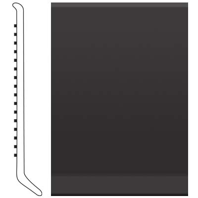 Roppe 6 Inch 1/8 Vinyl Cove Base Black Vinyl Flooring