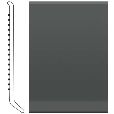 Roppe 4 Inch 1/8 Vinyl Cove Base Black Brown Vinyl Flooring