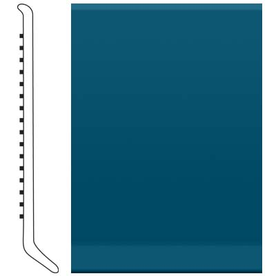 Roppe 4 Inch 1/8 Vinyl Cove Base Blue Vinyl Flooring
