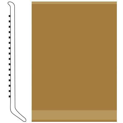 Roppe 4 Inch 1/8 Vinyl Cove Base Brass Vinyl Flooring