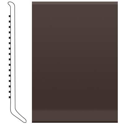 Roppe 6 Inch 1/8 Vinyl Cove Base Brown Vinyl Flooring