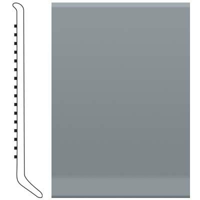 Roppe 4 Inch 1/8 Vinyl Cove Base Dark Gray Vinyl Flooring