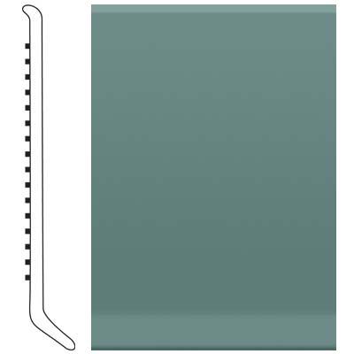 Roppe 2.5 Inch 1/8 Vinyl Cove Base Hunter Green Vinyl Flooring
