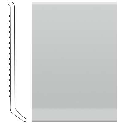 Roppe 6 Inch 1/8 Vinyl Cove Base Light Gray Vinyl Flooring