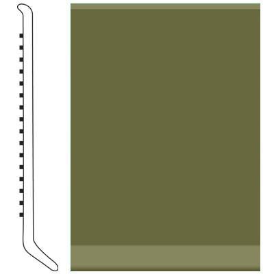 Roppe 4 Inch 0.080 Vinyl Cove Base Olive Vinyl Flooring