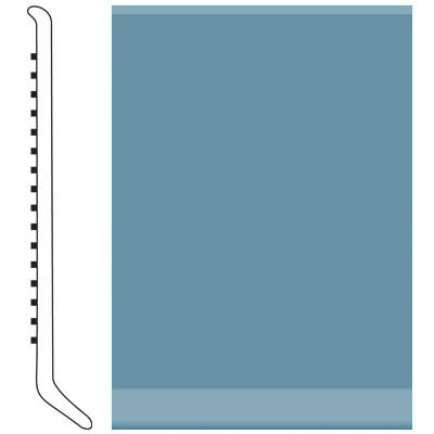 Roppe 6 Inch 1/8 Vinyl Cove Base Salem Blue Vinyl Flooring
